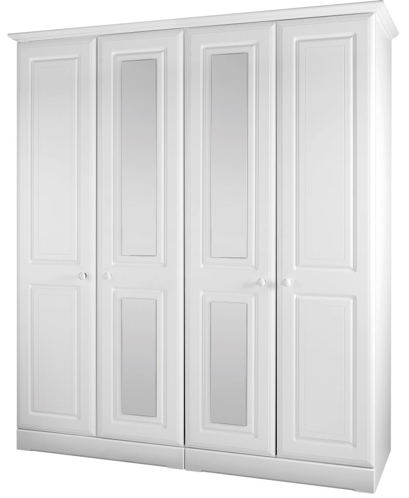 4 Door White Wardrobes With Regard To Trendy Door: 4 Door White Wardrobe (View 4 of 15)