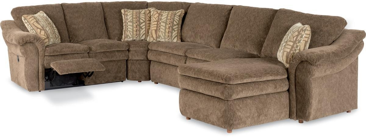 4 Piece Reclining Sectional Sofa With Ras Chaisela Z Boy With Popular La Z Boy Sectional Sofas (Gallery 2 of 10)