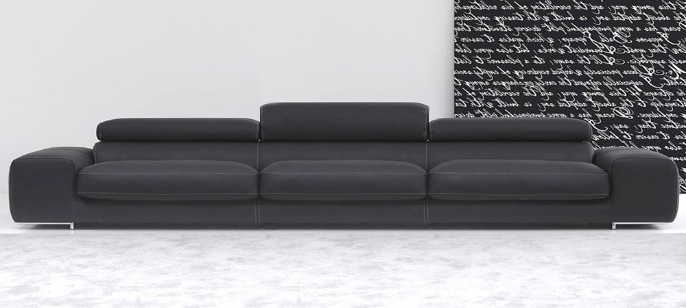 4 Seat Leather Sofas Inside Current Italian Leather Sofa Arenacalia Maddalena (View 2 of 15)