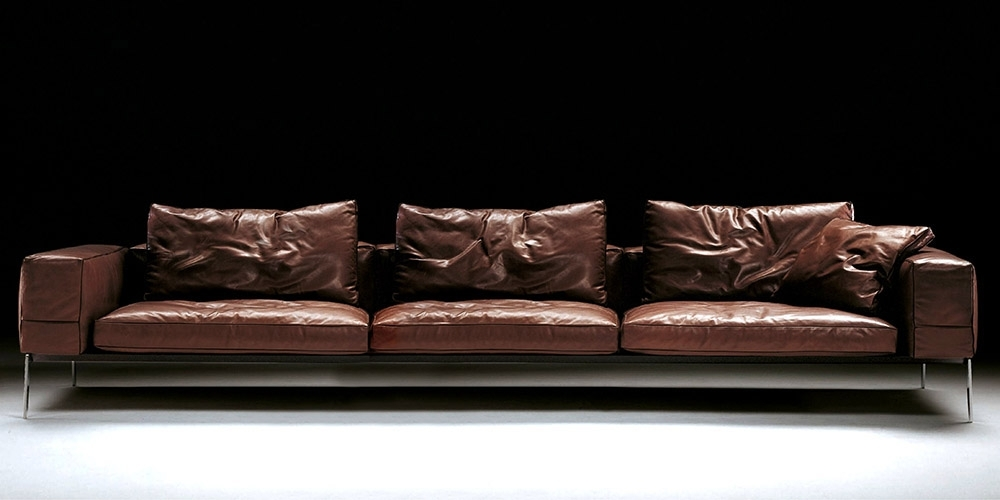 4 Seat Leather Sofas Inside Latest Italian Leather Sofa Houstoncalia Maddalena (View 3 of 15)