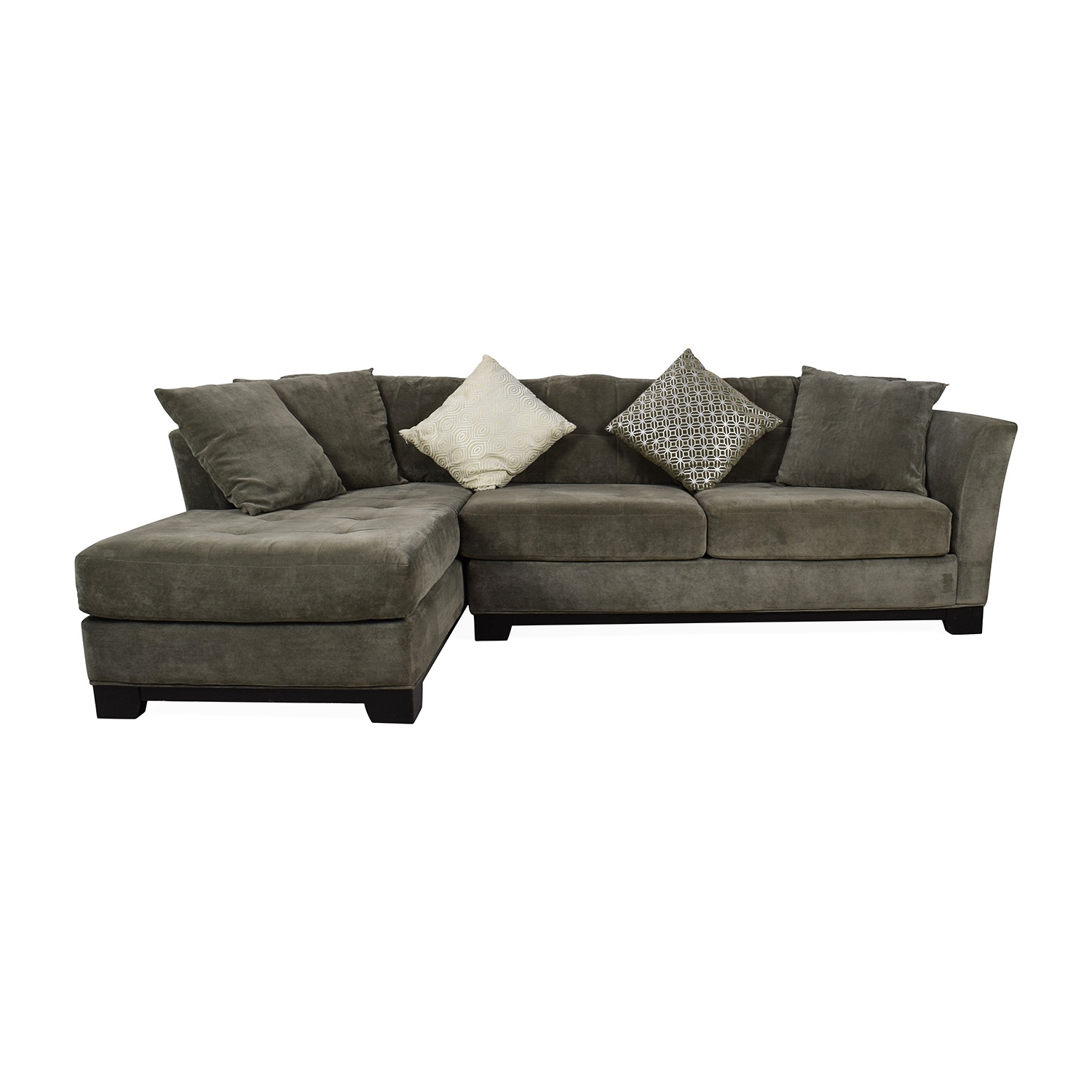 50 Off Macys Gray Sectional Couch With Chaise Sofas