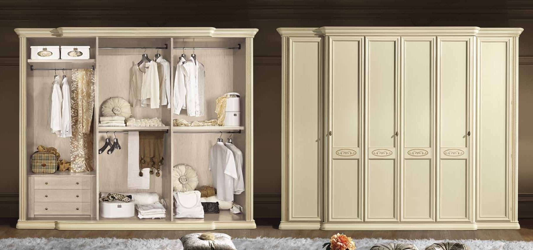 6 Door Wardrobe Bedroom Furniture (View 2 of 15)