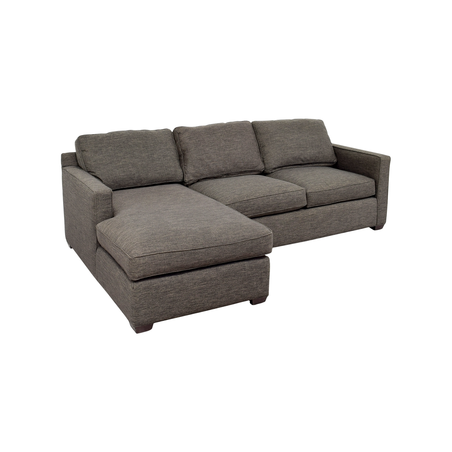 [%63% Off – Crate And Barrel Crate & Barrel Davis Grey Chaise Regarding Famous Grey Chaise Sectionals|grey Chaise Sectionals With Regard To Preferred 63% Off – Crate And Barrel Crate & Barrel Davis Grey Chaise|newest Grey Chaise Sectionals Regarding 63% Off – Crate And Barrel Crate & Barrel Davis Grey Chaise|best And Newest 63% Off – Crate And Barrel Crate & Barrel Davis Grey Chaise Inside Grey Chaise Sectionals%] (View 8 of 15)