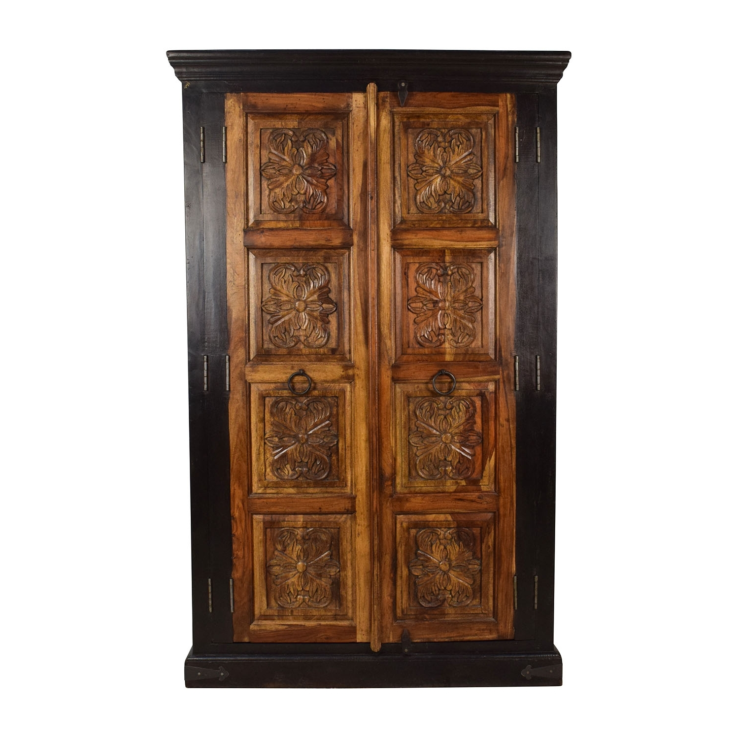 [%74% Off – Large Carved Wooden Armoire / Storage Throughout Well Known Cheap Wood Wardrobes|Cheap Wood Wardrobes With Regard To Fashionable 74% Off – Large Carved Wooden Armoire / Storage|Widely Used Cheap Wood Wardrobes In 74% Off – Large Carved Wooden Armoire / Storage|Famous 74% Off – Large Carved Wooden Armoire / Storage In Cheap Wood Wardrobes%] (View 1 of 15)