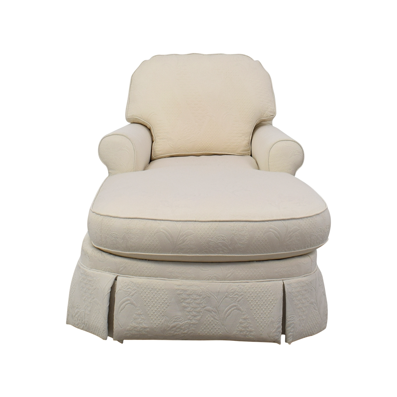 [%85% Off – Ethan Allen Ethan Allen Victoria White Chaise Lounge / Sofas Within Popular White Chaises|White Chaises Throughout Most Recently Released 85% Off – Ethan Allen Ethan Allen Victoria White Chaise Lounge / Sofas|Well Known White Chaises With Regard To 85% Off – Ethan Allen Ethan Allen Victoria White Chaise Lounge / Sofas|Most Recent 85% Off – Ethan Allen Ethan Allen Victoria White Chaise Lounge / Sofas Intended For White Chaises%] (View 8 of 15)