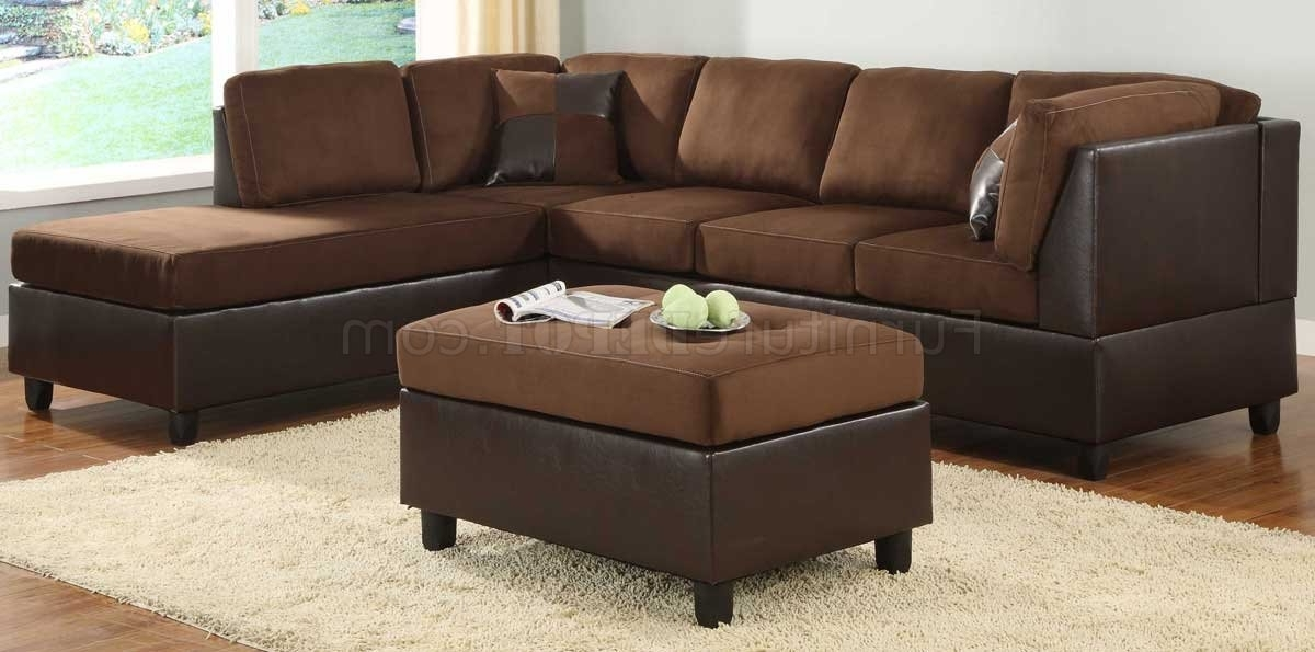9909Ch Comfort Sectional Sofa In Chocolate Microfiberhomelegance For Favorite Chocolate Brown Sectional Sofas (View 2 of 10)