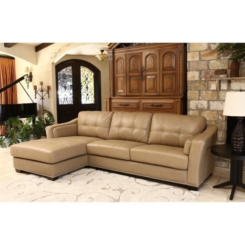 Abbyson Living Margot Leather Sectional In Beige U2013 Sk 2313 Crm Regarding  Well Known Abbyson Sectional. Previous Photo Abbyson Sectional Sofas