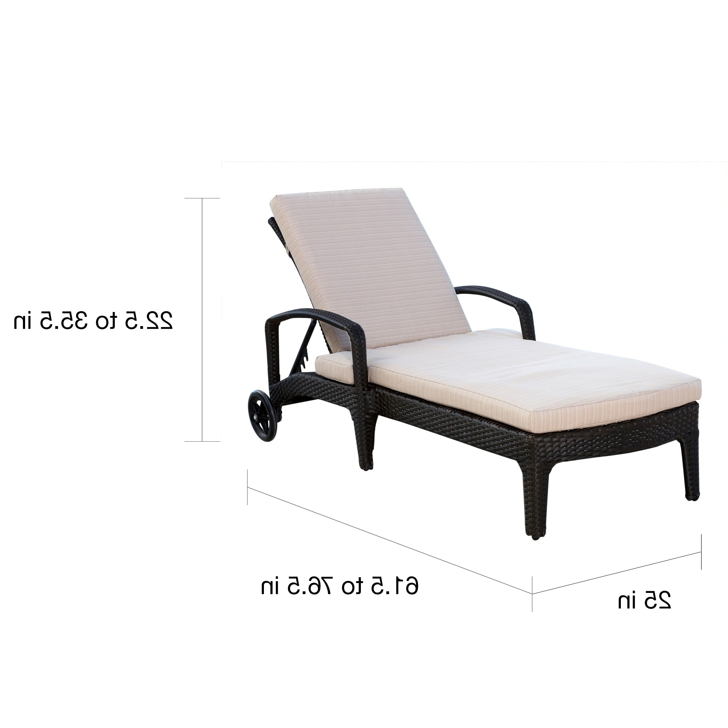 Abbyson Newport Outdoor Wicker Chaise Lounge – Free Shipping Today Pertaining To Best And Newest Newport Chaise Lounge Chairs (View 10 of 15)
