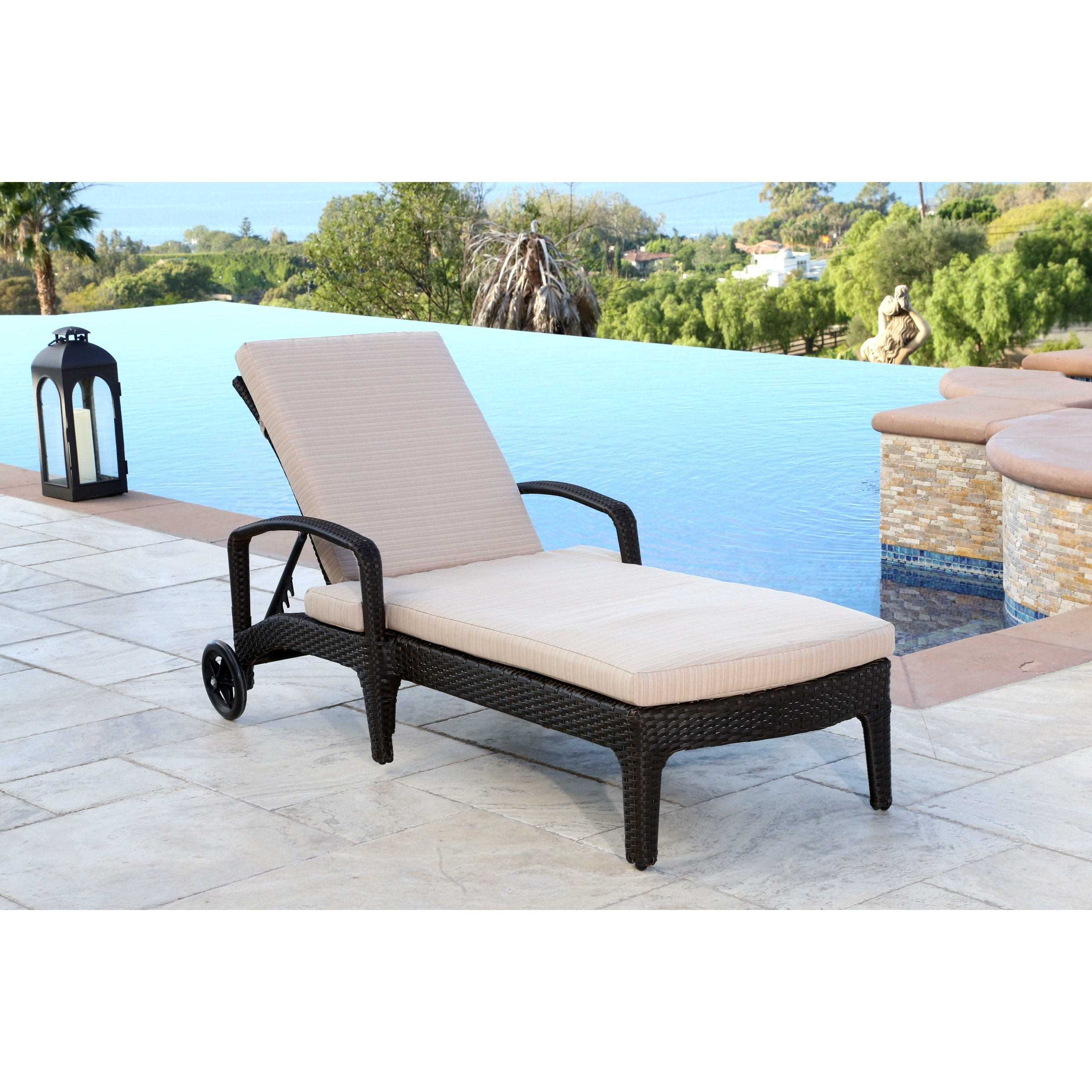 Abbyson Newport Outdoor Wicker Chaise Lounge – Free Shipping Today With Regard To Popular Newport Chaise Lounge Chairs (View 11 of 15)