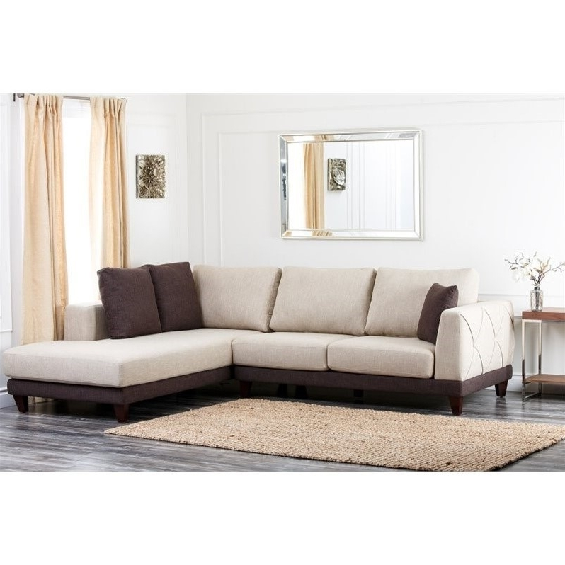 Abbyson Sectional Sofas Pertaining To Most Popular Abbyson Living Juliette Fabric Sectional Sofa In Cream – Rl 1312 Crm (View 6 of 15)