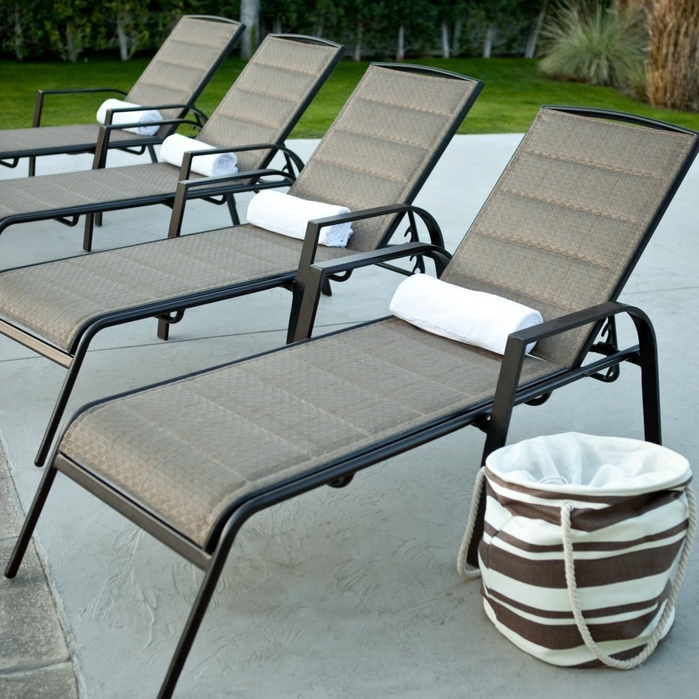 Aluminum Chaise Lounge Outdoor Chairs With Regard To Best And Newest Amazon : Coral Coast Coral Coast Del Rey Padded Sling Chaise (View 1 of 15)