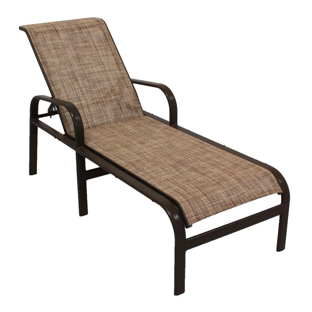 Aluminum Chaise Lounge Outdoor Chairs With Regard To Well Known Marco Island Dark Cafe Brown Commercial Grade Aluminum Patio (View 2 of 15)