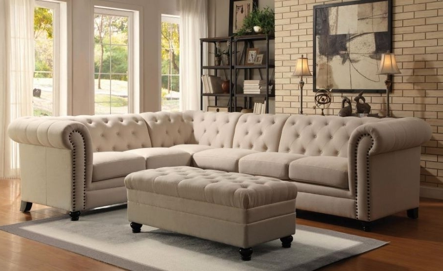 Amazing Ashley Furniture White Leather Sofa #7 Grey Tufted Regarding Favorite Ashley Tufted Sofas (View 2 of 10)