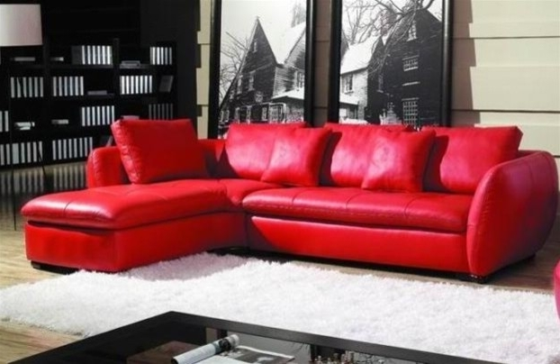 Amazing Red Leather Sectional Sofa 32 Living Room Sofa Ideas With In Recent Small Red Leather Sectional Sofas (View 6 of 10)