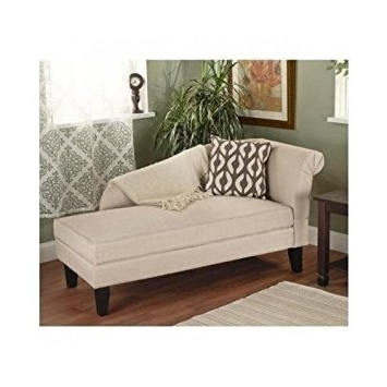Amazon: Beige/tan Storage Chaise Lounge Sofa Chair Couch For Within Newest Sofa Chairs For Bedroom (View 2 of 10)