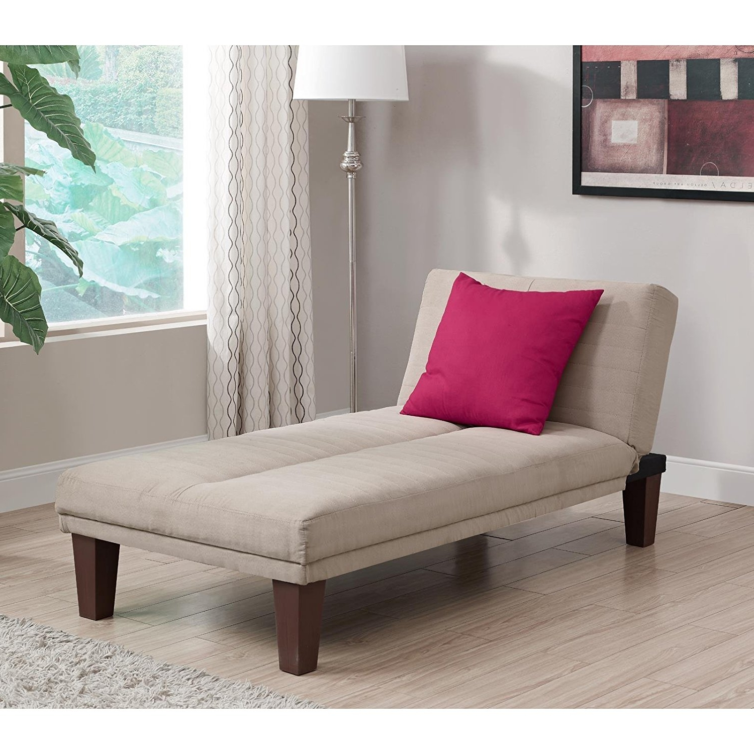 Amazon: Contemporary Chaise Lounge – Seat Couch Sleeper Indoor Throughout Most Recent Chaise Lounge Beds (View 1 of 15)