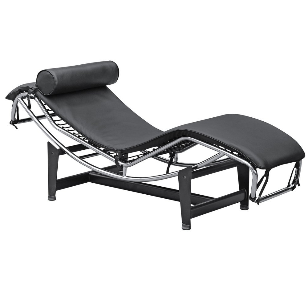 Amazon: Fine Mod Lc4 Black Chaise Lounge Chair: Kitchen & Dining With Regard To Famous Lc4 Chaise Lounges (View 2 of 15)