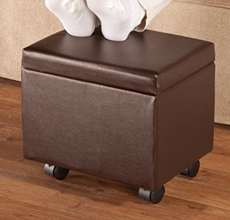Amazon: Flip Top Storage Ottomanoakridgetm Accents, Brown Intended For Preferred Ottomans With Wheels (View 2 of 10)