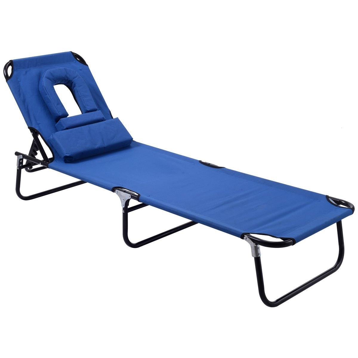 Amazon: Goplus Folding Chaise Lounge Chair Bed Outdoor Patio Regarding Most Recently Released Beach Chaise Lounge Chairs (View 4 of 15)