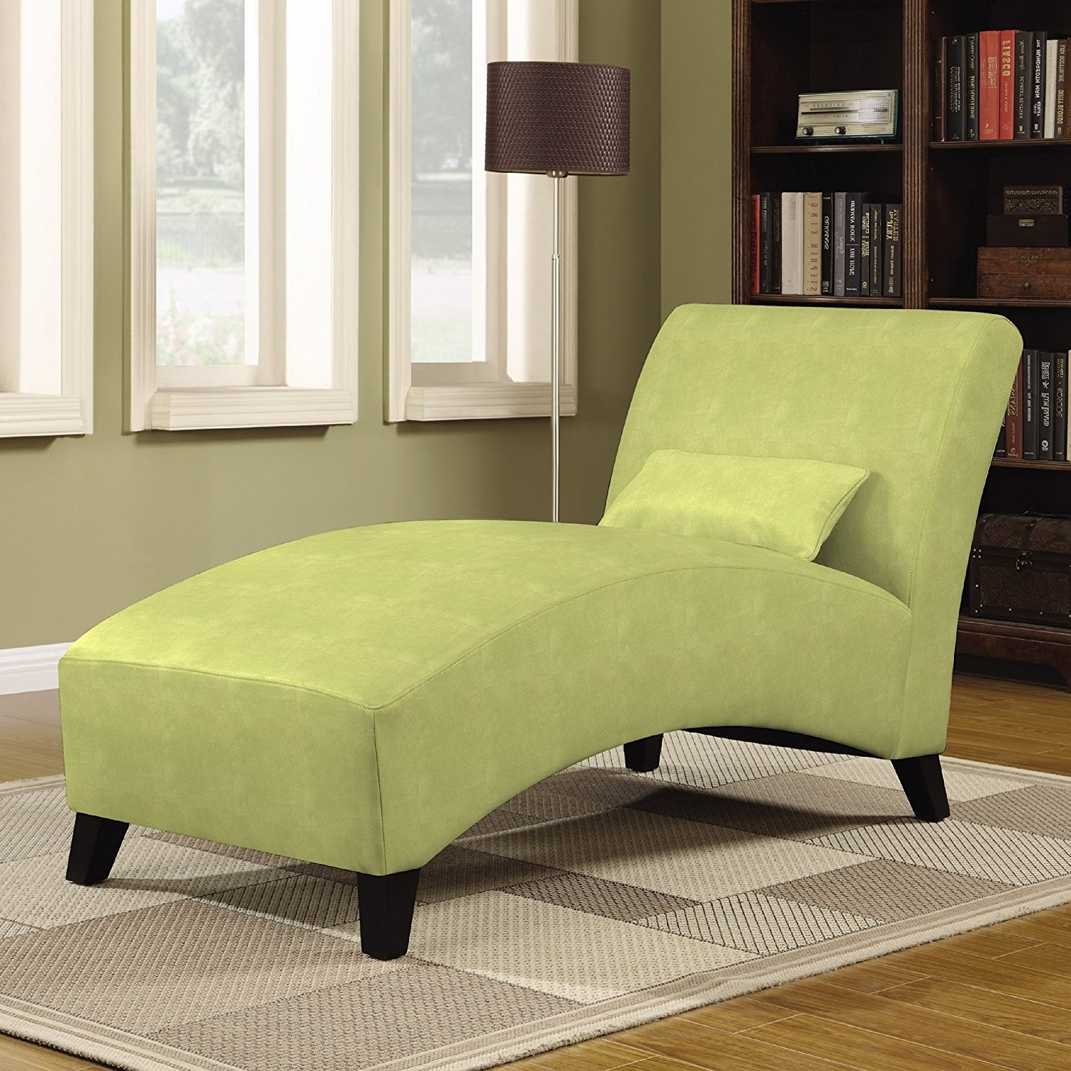 Amazon: Handy Living Chaise Lounge Chair, Gecko Green: Kitchen For Most Popular Curved Chaise Lounges (View 14 of 15)