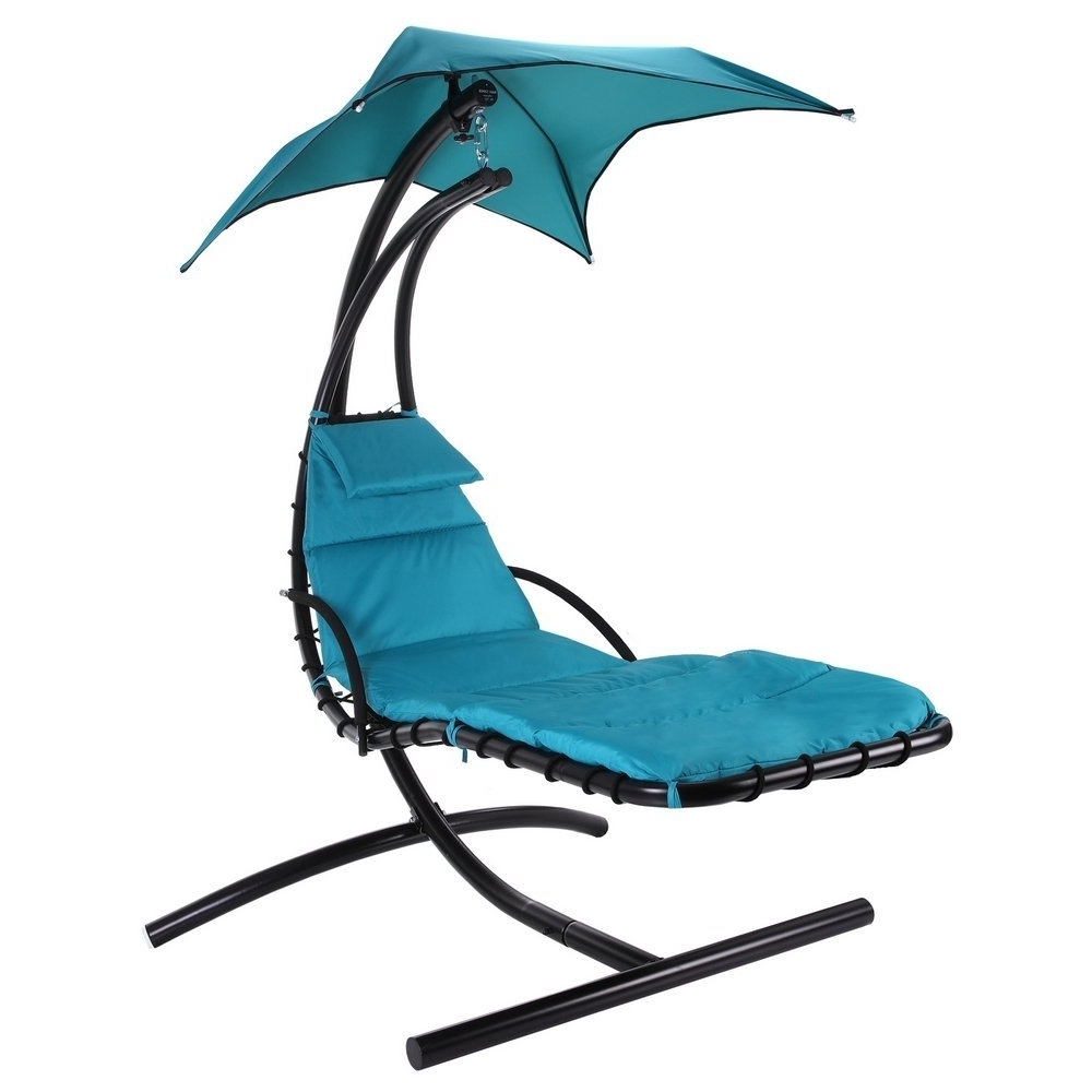 Amazon : Palm Springs Outdoor Hanging Chair Recliner Swing Air In Well Liked Chaise Lounge Swing Chairs (View 10 of 15)
