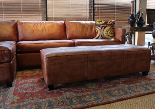 Phoenix 100 Full Aniline Leather Sectional Sofa With Regard To