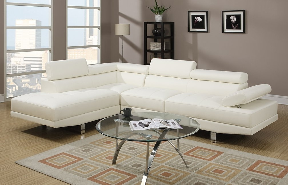 Amazon: Poundex 2 Pieces Faux Leather Sectional Right Chaise Pertaining To Well Known Faux Leather Sectional Sofas (View 4 of 10)