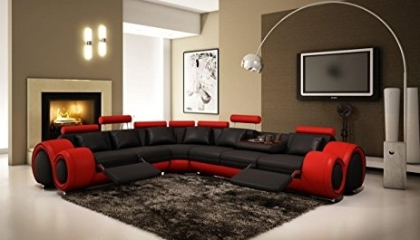 Amazon: Vig Furniture 4087 Red U0026 Black Bonded Leather With Well Known Red Black  Sectional