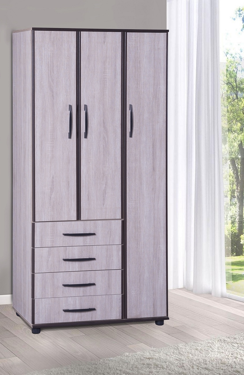 Amman 3 Door + 4 Drawer Wardrobe – Fair Price Intended For Best And Newest Cheap Wardrobes And Chest Of Drawers (View 1 of 15)