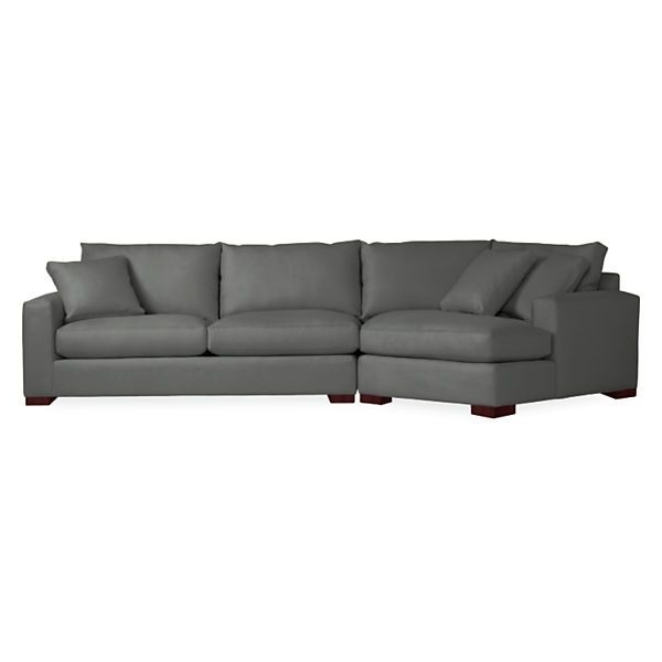 Angled Chaise Sofas In Current Metro Sofa With Angled Chaise – Modern Sectionals – Modern Living (View 3 of 15)