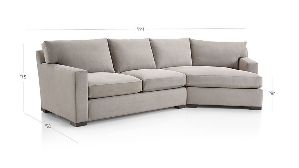 Angled Chaise Sofas Pertaining To Preferred Axis Ii 2 Piece Left Arm Angled Chaise Sectional Sofa Crate And (View 7 of 15)