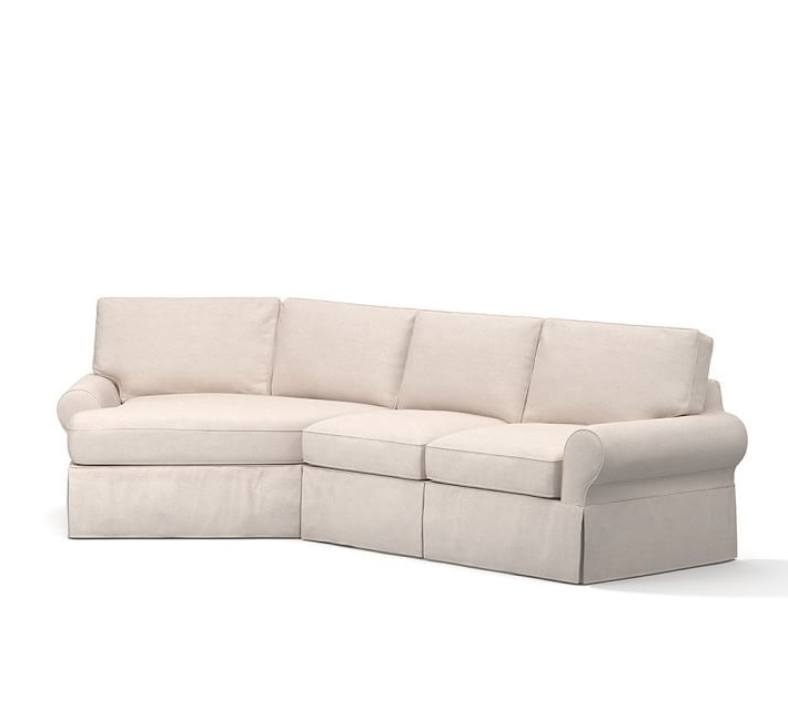 Angled Chaise Sofas Within Most Recent Pb Basic Slipcovered 2 Piece Angled Chaise Sectional (View 8 of 15)