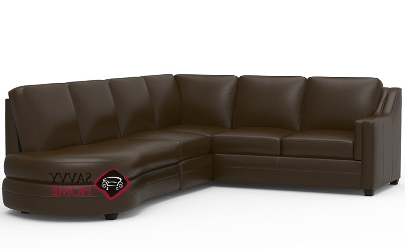 Angled Chaise Sofas Within Recent Corissa Leather Chaise Sectionalpalliser Is Fully Customizable (View 9 of 15)