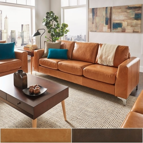 Aniline Leather Sofas In Well Known Bastian Aniline Leather Sofainspire Q Modern – Free Shipping (View 15 of 15)