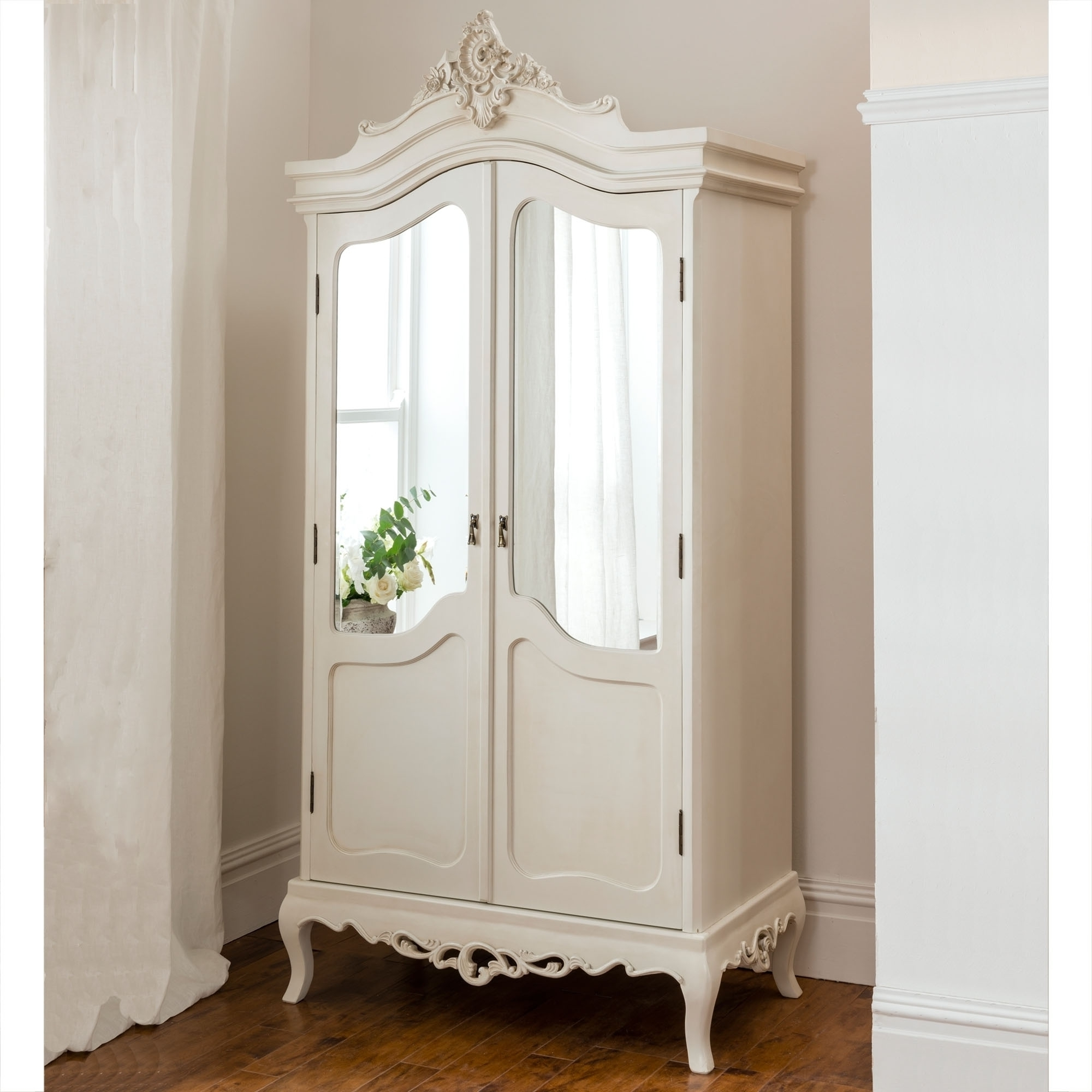Annaelle Antique French Wardrobe Intended For Most Up To Date Silver French Wardrobes (View 1 of 15)