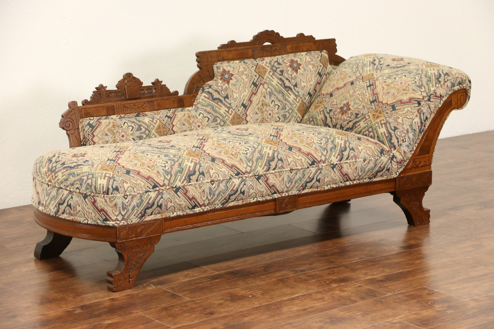 Antique Chaise Lounge Chairs Regarding Best And Newest Sold – Victorian Eastlake 1880 Antique Chaise Lounge Or Fainting (View 13 of 15)