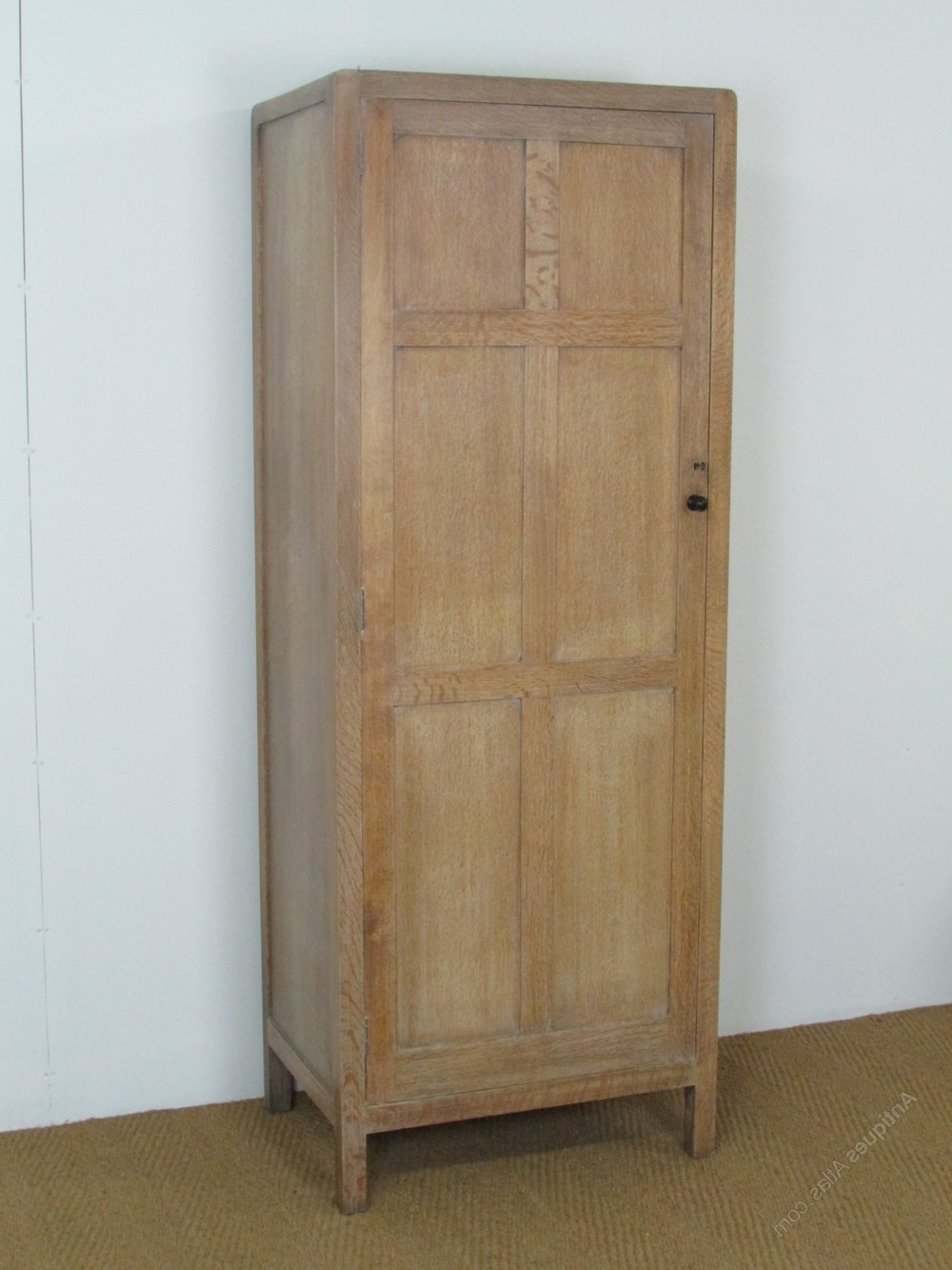 Antique Single Wardrobes Within Current Heal's Cotswold Style Limed Oak Single Wardrobe – Antiques Atlas (View 6 of 15)