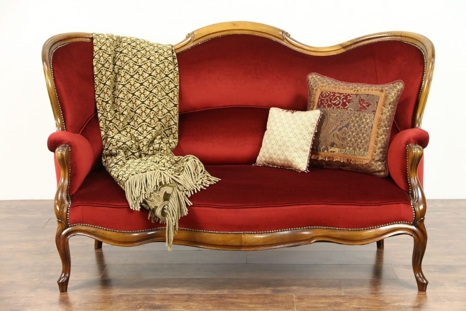 Antique Sofas Within Well Known Furniture. Sofa Styles Antique: Victorian  Trading Company (Gallery