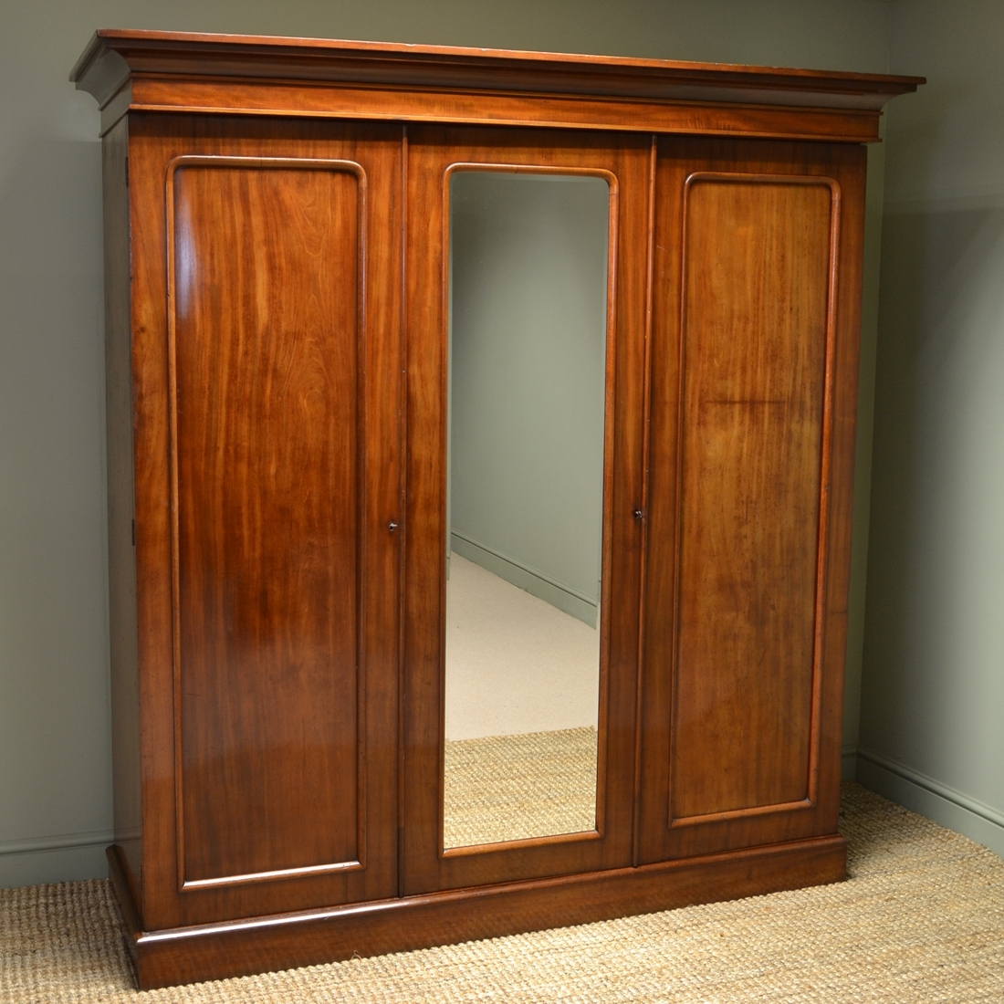 antique beveled door wardrobes mahogany closet armoire mirror wardrobe or shop