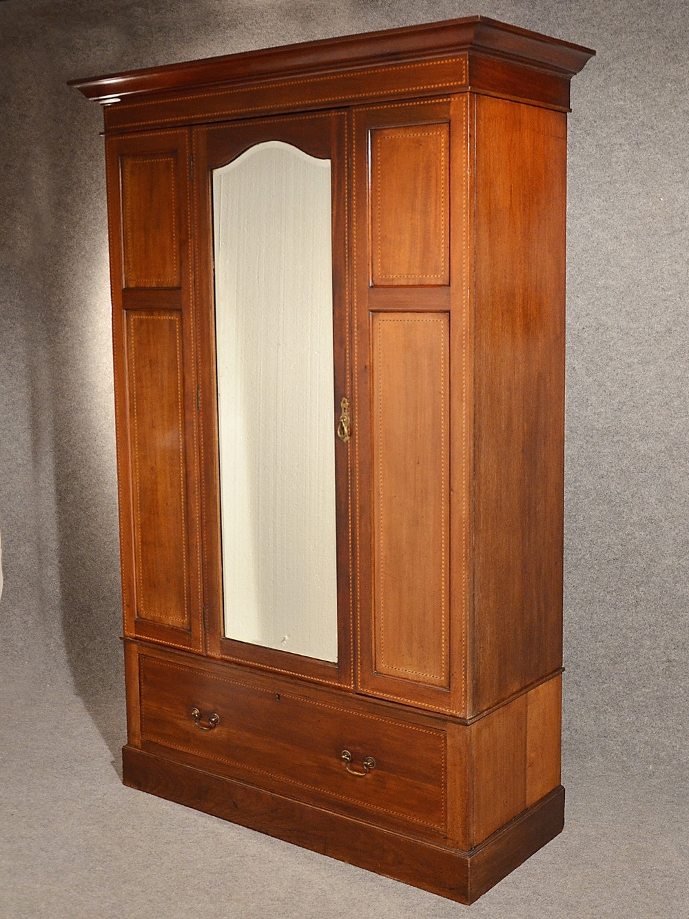 Antique Wardrobes Intended For Latest Antique Wardrobe Armoire Mirror Door Maple & Co – Antiques Atlas (View 4 of 15)