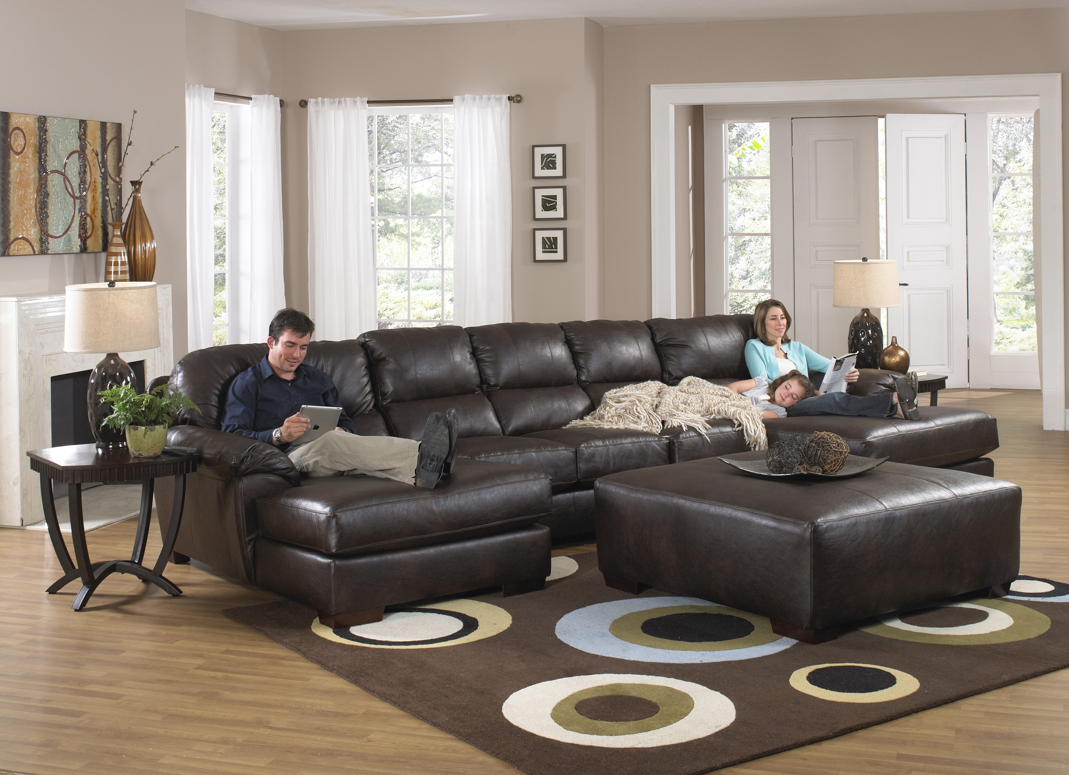 Apartment Size Sectional Sofa U Shaped Sectional Leather Sectional With Favorite Sectionals With Chaise And Recliner (View 1 of 15)