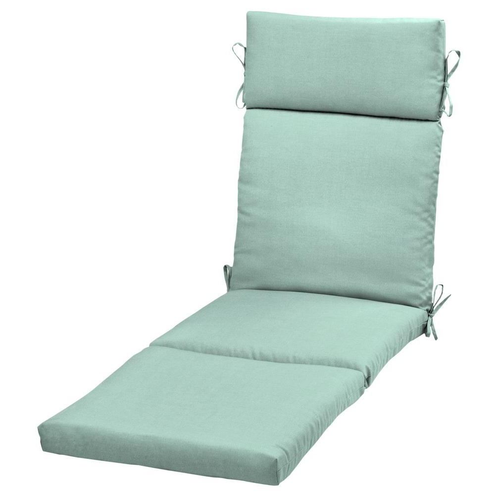 Aqua Leala Texture Outdoor Chaise Lounge Cushion Th1G853B D9Z1 Throughout Most Recent Outdoor Chaise Cushions (View 3 of 15)