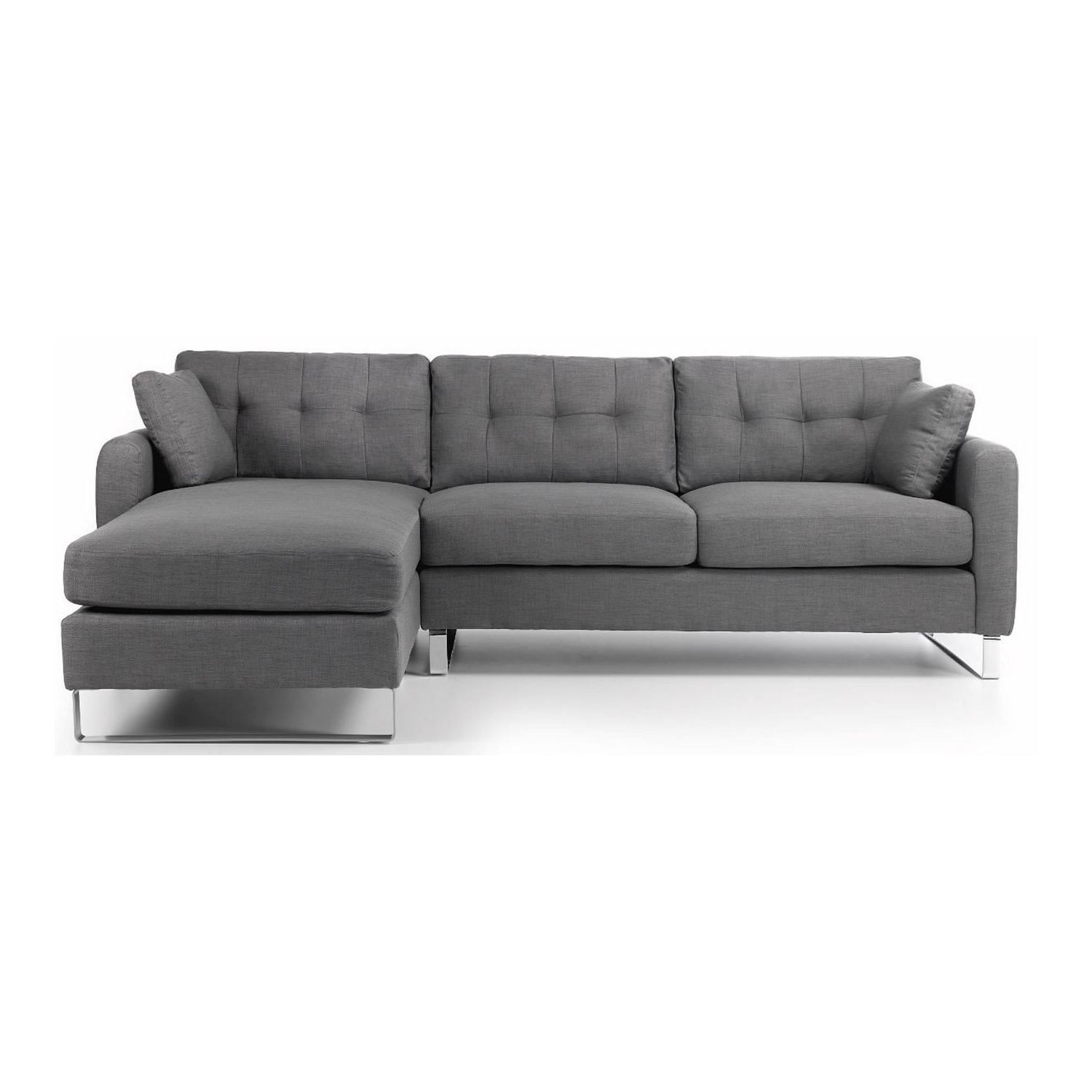 Ares Corner Chaise Sofa – Next Day Delivery Ares Corner Chaise Sofa With Recent Grey Sofa Chaises (View 3 of 15)