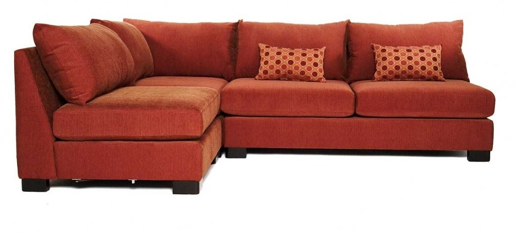 Armless Sectional Sofas For Current Small Terracota Armless Sectional Sofas With Sleeper – S3Net (View 1 of 10)
