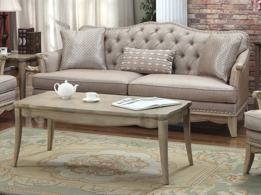 Ashden Tufted Linen Classic Sofa With Trendy Tufted Linen Sofas (View 7 of 10)