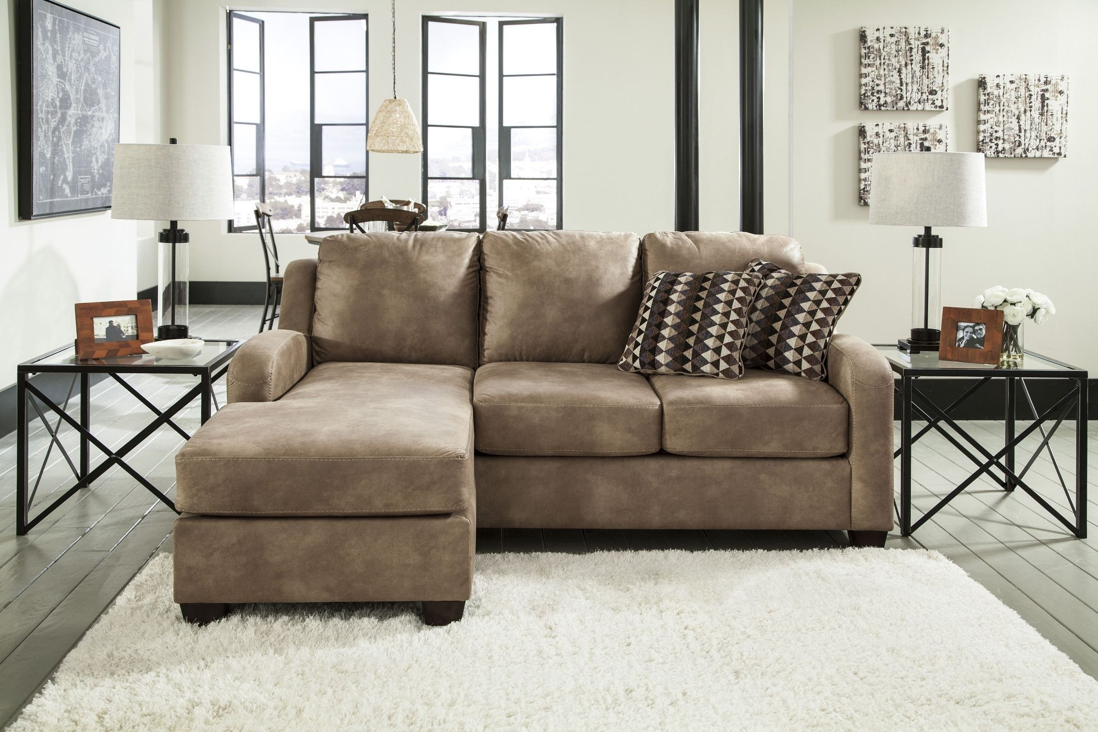 Ashley Furniture Chaise Sofas Throughout Most Popular Shayla Sofa Chaise  Ashley Furniture Homestore Inside Remodel 11