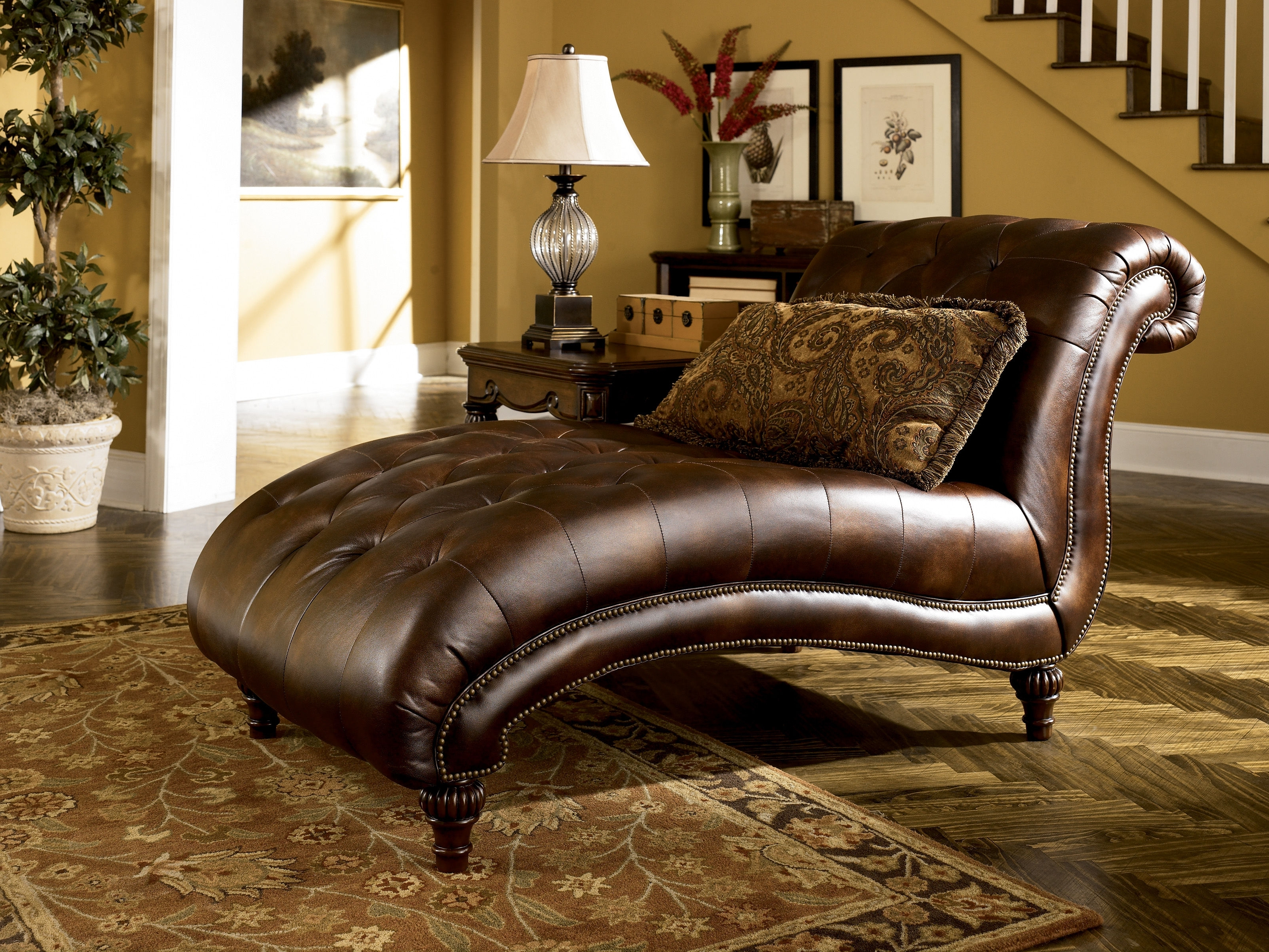 Ashley Furniture Claremore Antique Chaise (View 3 of 15)
