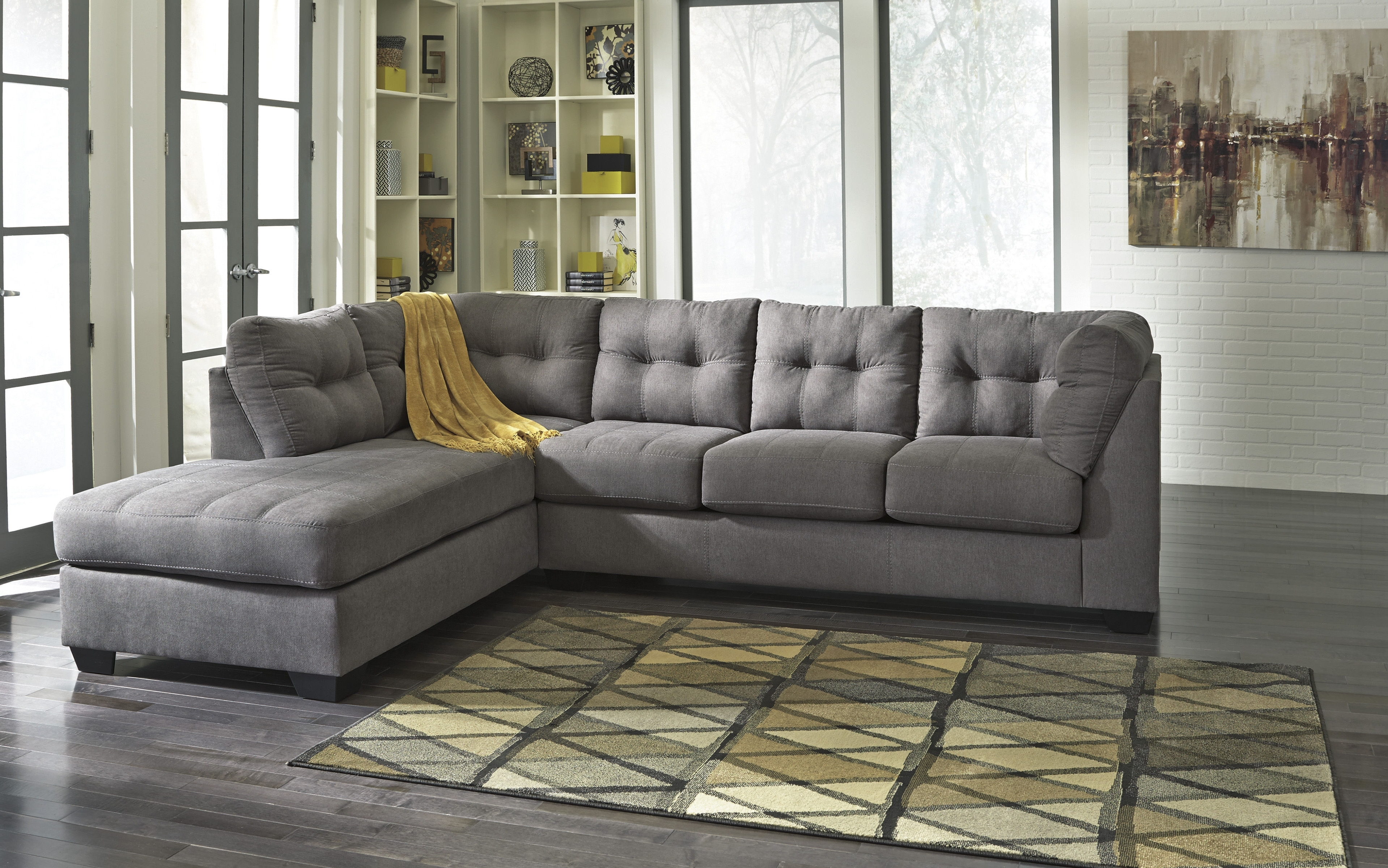 Ashley Furniture Maier Charcoal Raf Chaise Sectional (View 2 of 15)
