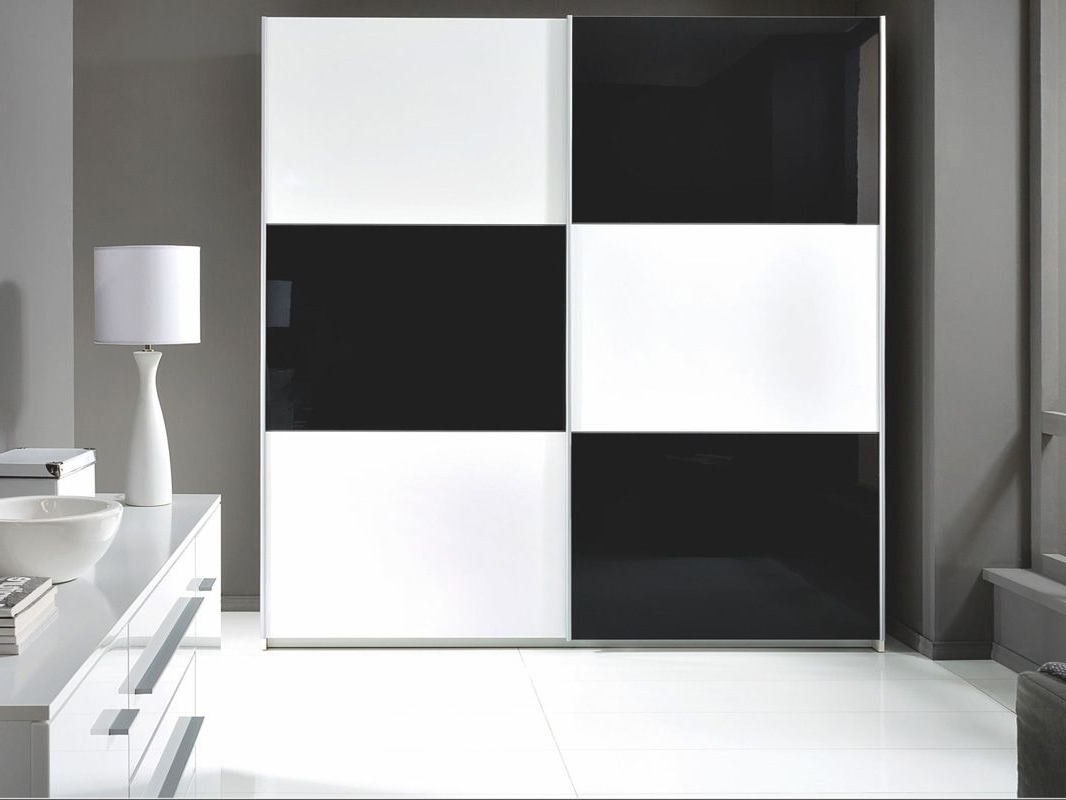 Astonishing Berlin Door Corner Wardrobe Set High Gloss Black And With Regard To Well Liked Black And White Wardrobes Set (View 3 of 15)