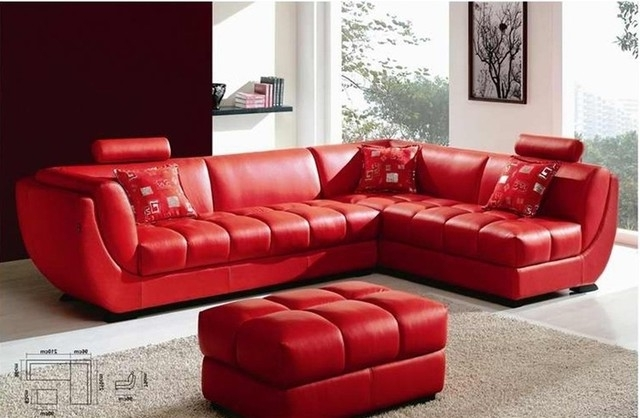 Awesome Red Leather Sofas Red Leather Sectional Sofa Magazine In Widely Used Red Leather Couches (View 2 of 10)